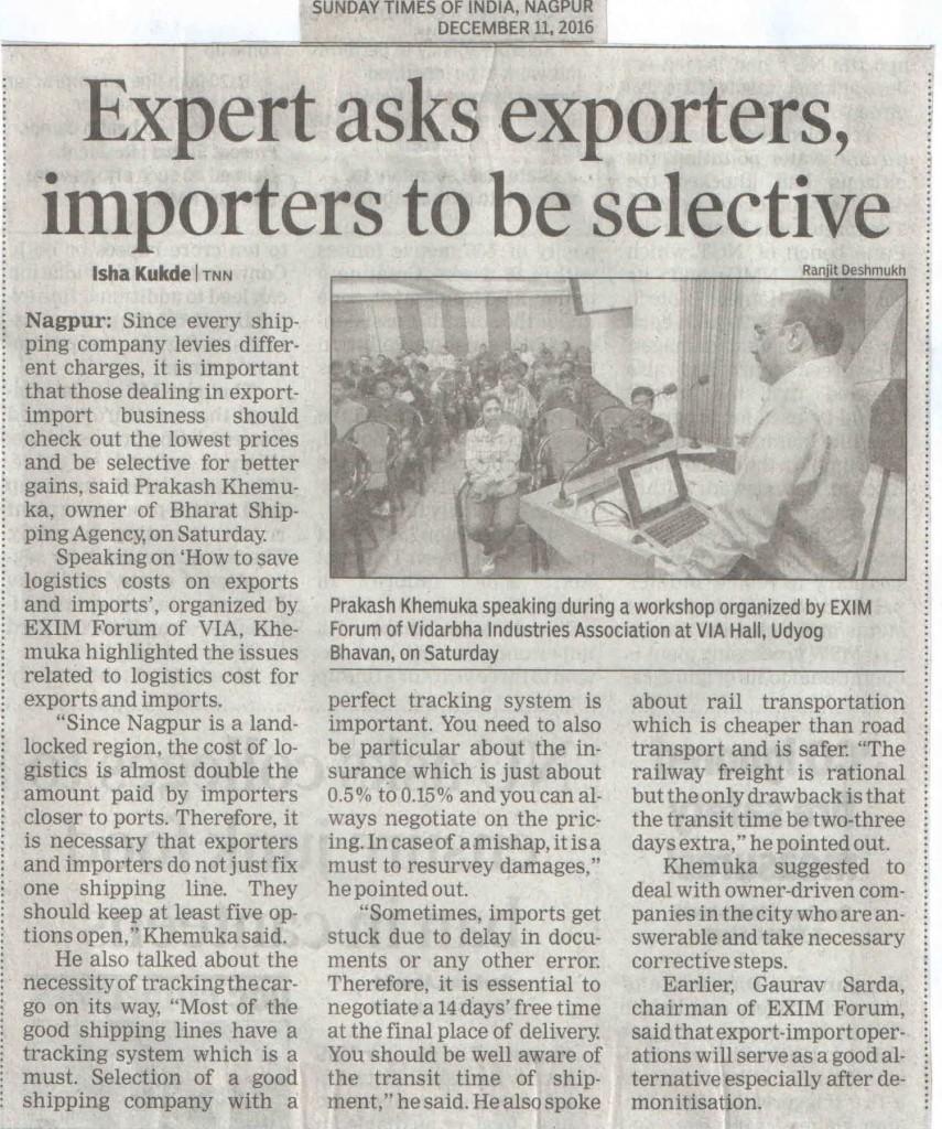 10th Dec post export